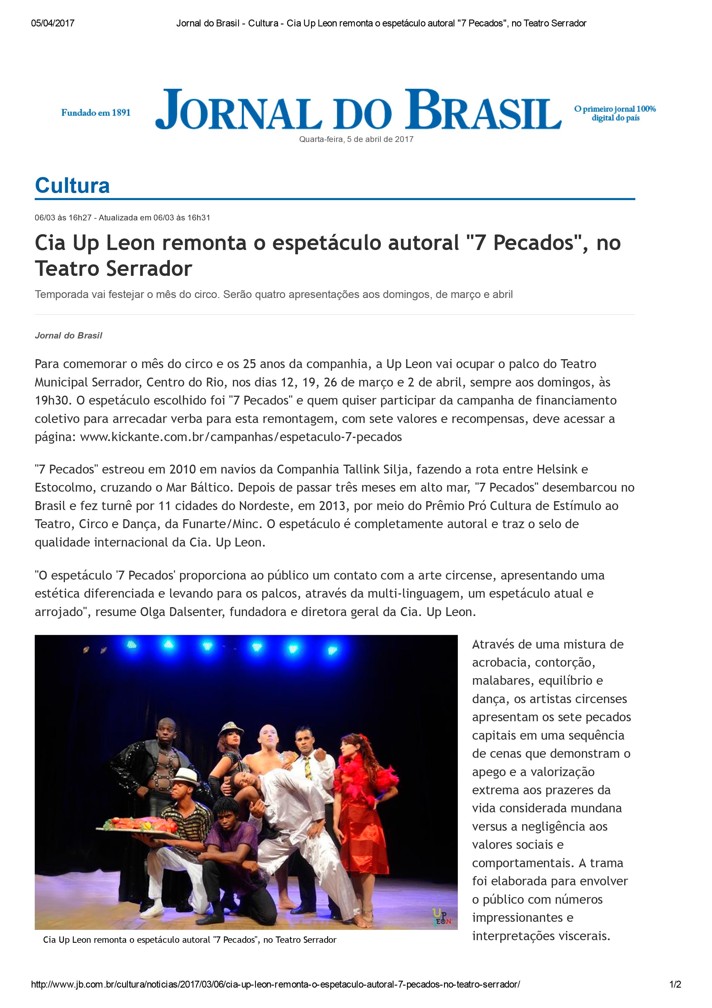 Jornal-do-Brasil---Cultura---Cia-Up-Leon-remonta-o-espetáculo-autoral_7-Pecados_,-no-Teatro-Serrador-1